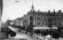 Historic postcard from Radom